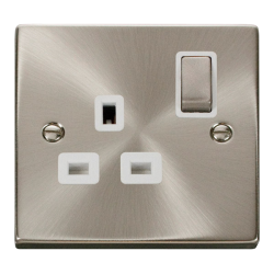 Click Deco Satin Chrome 2 Gang 2Way Switch VPSC412BK